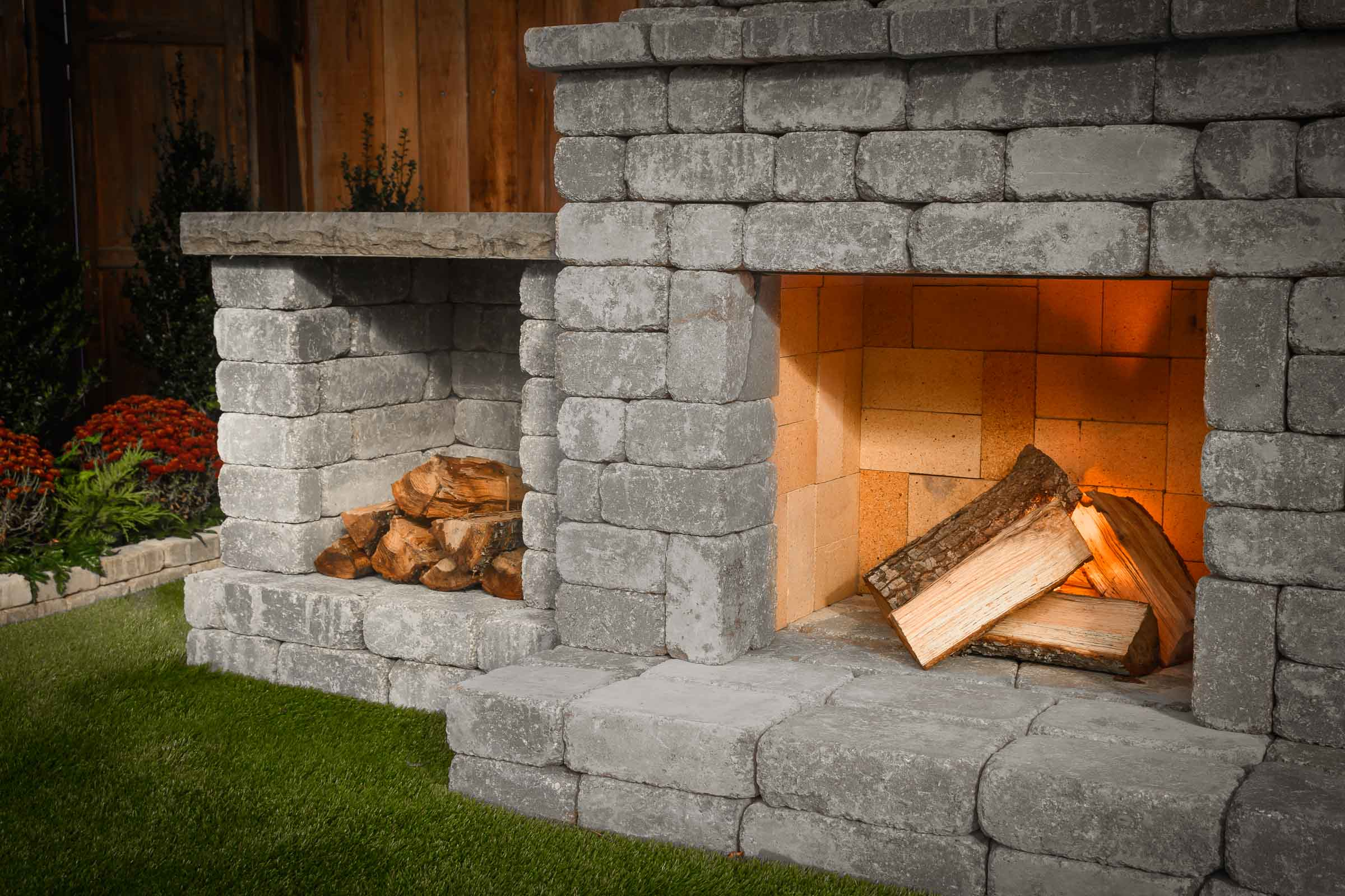 "DIY Outdoor Fireplace Kit ""Fremont"" makes hardscaping ... on Simple Outdoor Brick Fireplace id=15596"
