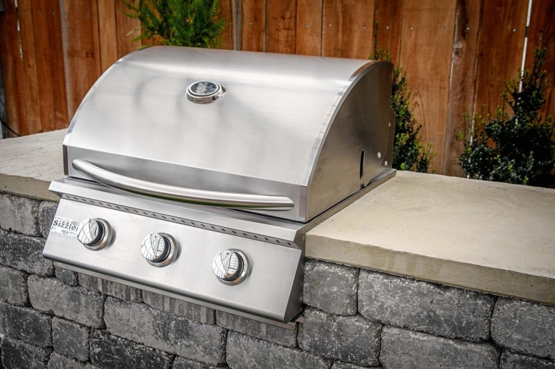 """Willard 26"""" stainless gas grill outdoor grilling station kit"""