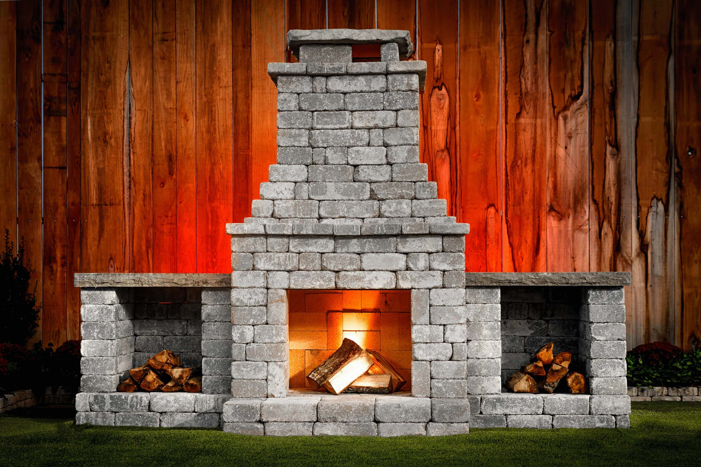 "DIY Outdoor Fireplace Kit ""Fremont"" makes hardscaping ... on Diy Outdoor Fire  id=95520"