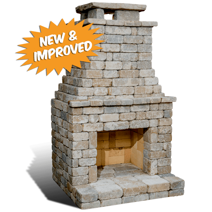 "DIY Outdoor Fireplace Kit ""Fremont"" makes hardscaping ... on Diy Outdoor Fire  id=23073"