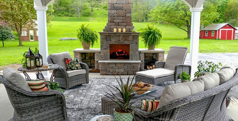how to build an outdoor fireplace step