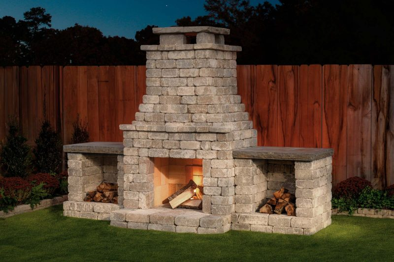 "DIY Outdoor Fireplace Kit ""Fremont"" makes hardscaping ... on Diy Outdoor Fire  id=79543"