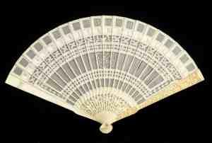 Monogrammed fan