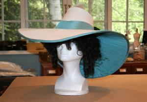 Assembled hat, before trimming.