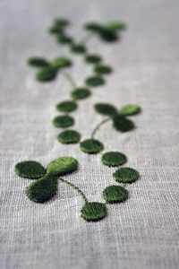 Clover embroidery design - 1812.