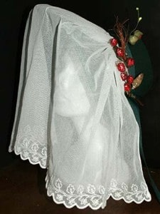 Regency bonnet veil