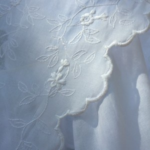 Fichu embroidery detail.