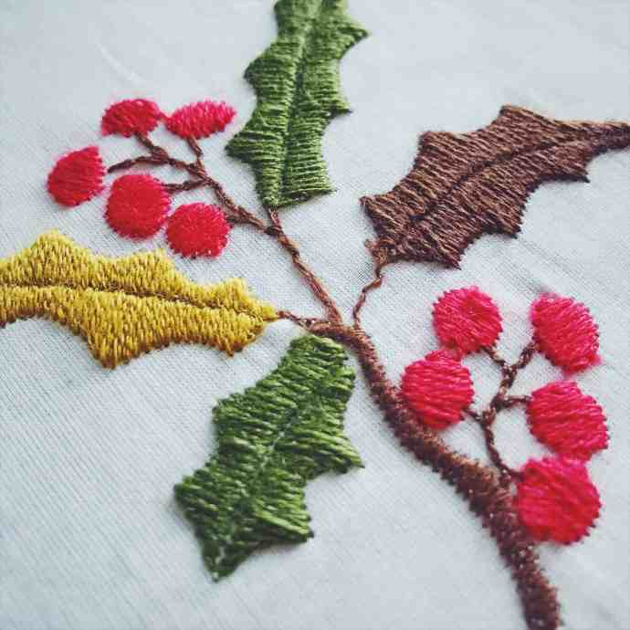 Regency crewelwork embroidery by machine