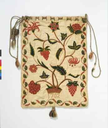 Early 18th c work bag