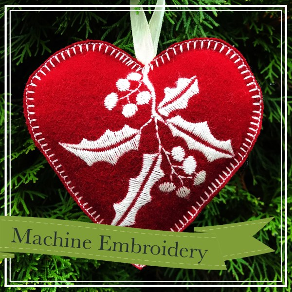 Embroidered Holiday Ornament