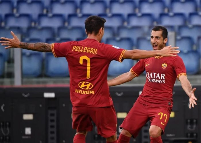 Henrikh Mkhitaryan scores on Roma debut as Italian side beat Sassuolo