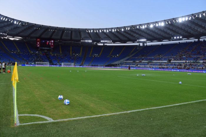 General view Olympic stadium during the Friendly Match between AS Roma v Raja Club Casablanca at Olimpico stadium in Rom
