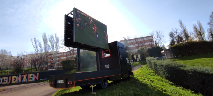 Pantalla LED en torneo rugby 7s