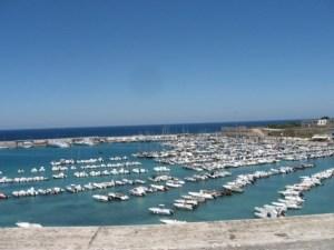 The Otranto marina in Salento.