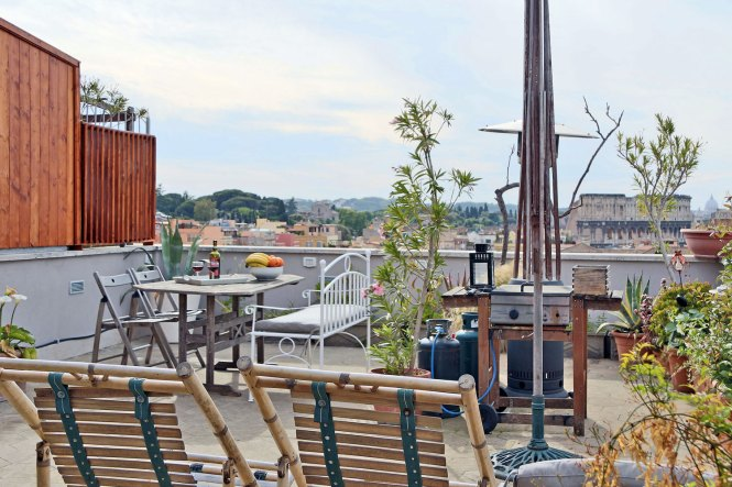 Rome Apartment Terrace View Holiday Accommodation