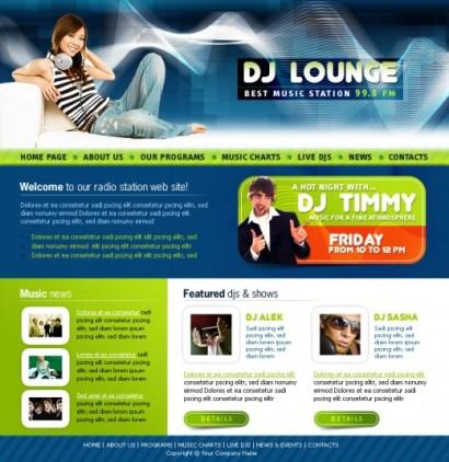 radio online template4