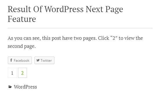multipage single post