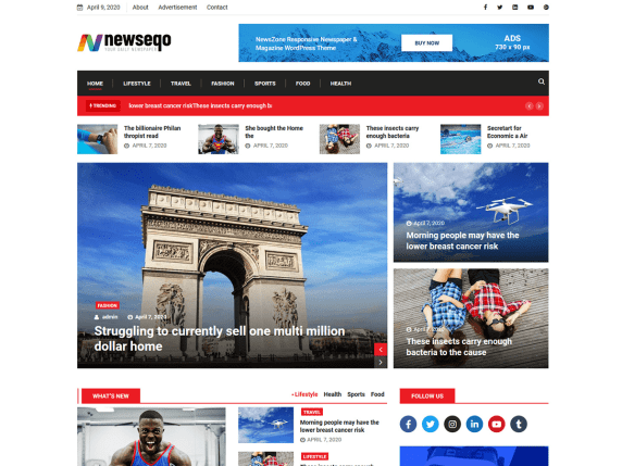 Newseqo - Tema WordPress