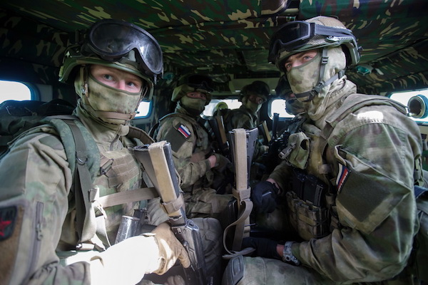 Rosgvardia soldiers