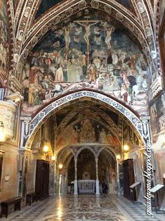 Il monastero di San Benedetto a Subiaco è interamente affrescato.