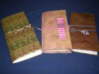 Hand made books by Tessa