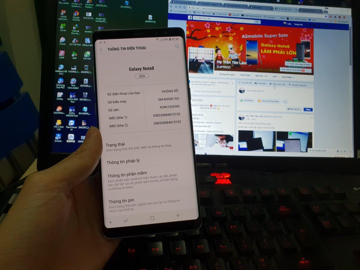 ROM Samsung Note 8 SM-N950N 2 sim Fix Full Android 8.0 Oreo