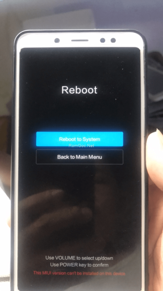 Fix Redmi Note 5 Pro treo Recovery 3 dòng ok - Romgoc