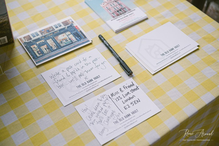 You can send a postcard to a friend