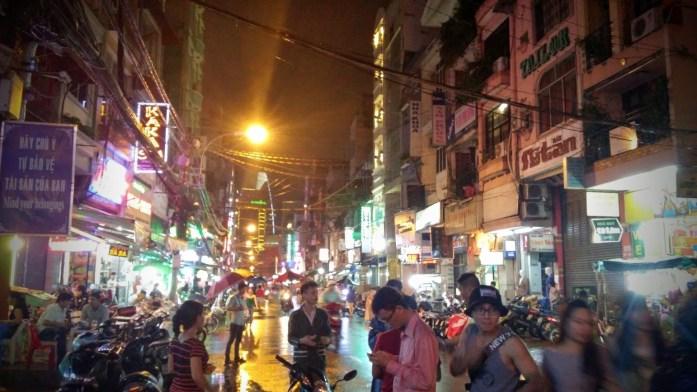 Calle Bui Vien, Ho Chi Minh, Vietnam, viaje 2015