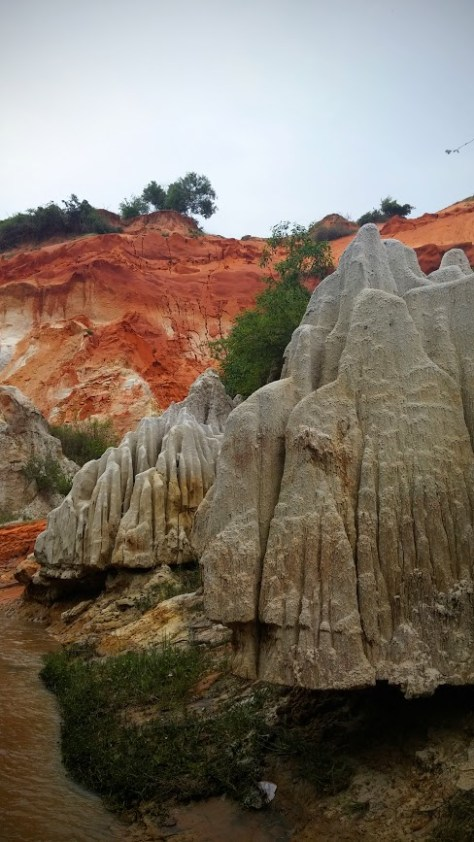 Formaciones de arena en Fairy Stream, Mui Ne, Vietnam, 2015