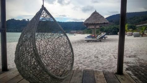 Hamacas del Resort de Long Beach, Ko Rong, Camboya, Octubre 2015