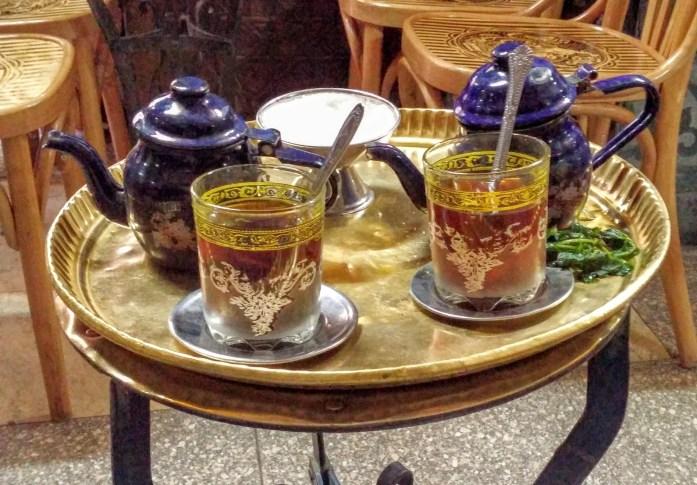 Tomando un te en el centro, El Cairo, Egipto, marzo 2016