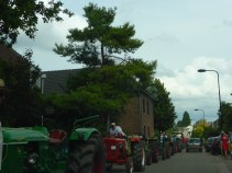 Some sort of tractor parade we came across