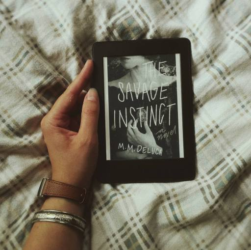 Cover on ebook the savage instinct by m.m. DeLuca marjorie deluca