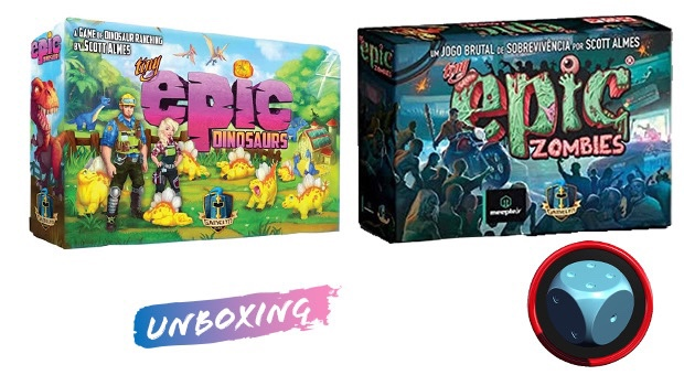 Read more about the article Unboxing Tiny Epic Dinosaurs e Zombies
