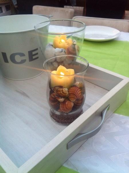 עיצוב מרכז שולחן באווירת קיץ