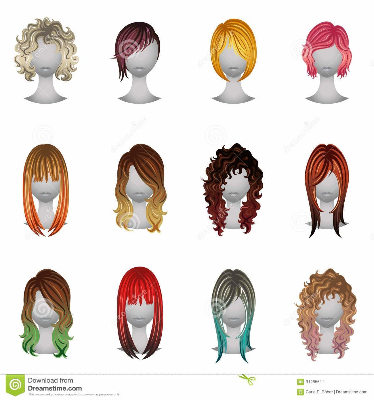 The Best Hair Colors Set Royalty Free Stock Photography Pictures