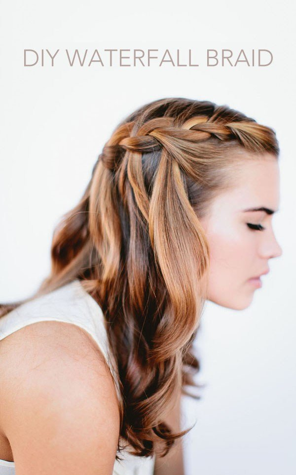The Best Waterfall Braid Wedding Hairstyles For Long Hair Once Wed Pictures