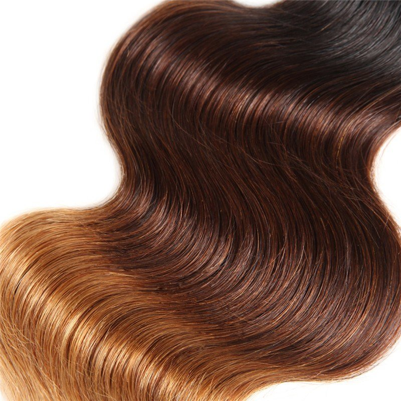 The Best Ombre Hair Color 1B 4 27 Body Wave Weave 3 Bundles With Pictures