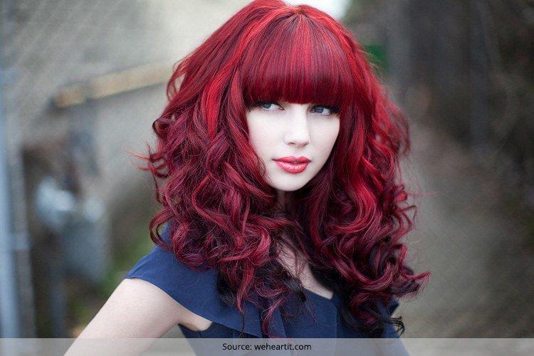 The Best Red And Black Hairstyles The Latest Color Trend That We Pictures