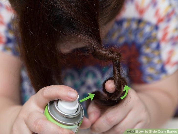 The Best How To Style Curly Bangs 14 Steps With Pictures Wikihow Pictures