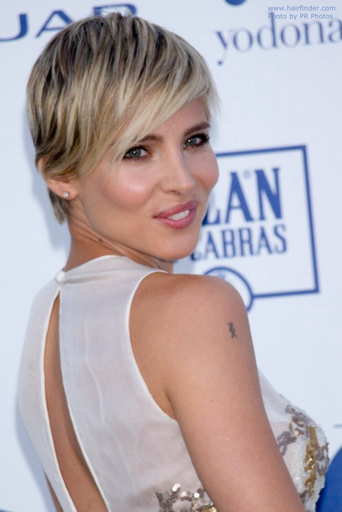 The Best Elsa Pataky Short Blonde Pixie Haircut With A Tapered Pictures