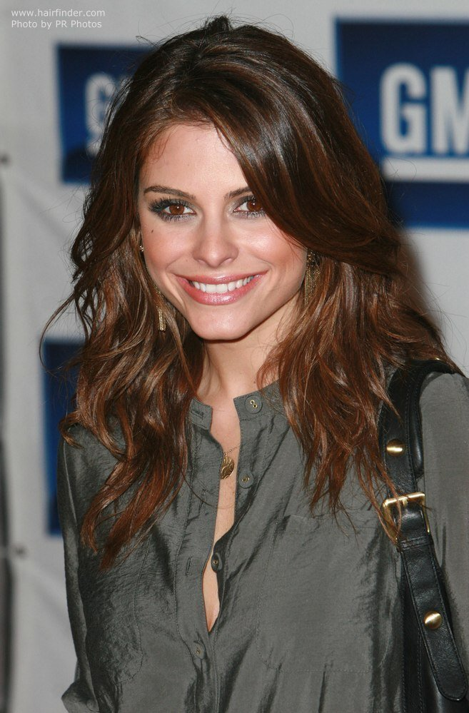 The Best Maria Menounos Long Hair With Extensive Layers And Side Bangs Pictures