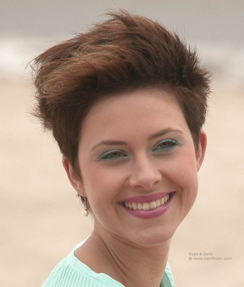 The Best Super Short Hairstyle For Women Pixie With Short And Tapered Back And Sides Pictures