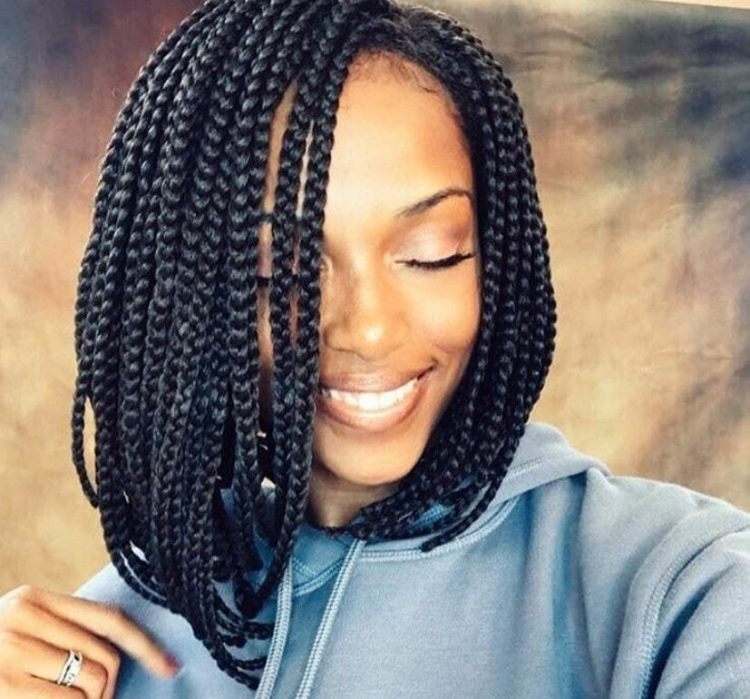 The Best 12 Box Braids Bob Hairstyles To Try Out This Season All Pictures