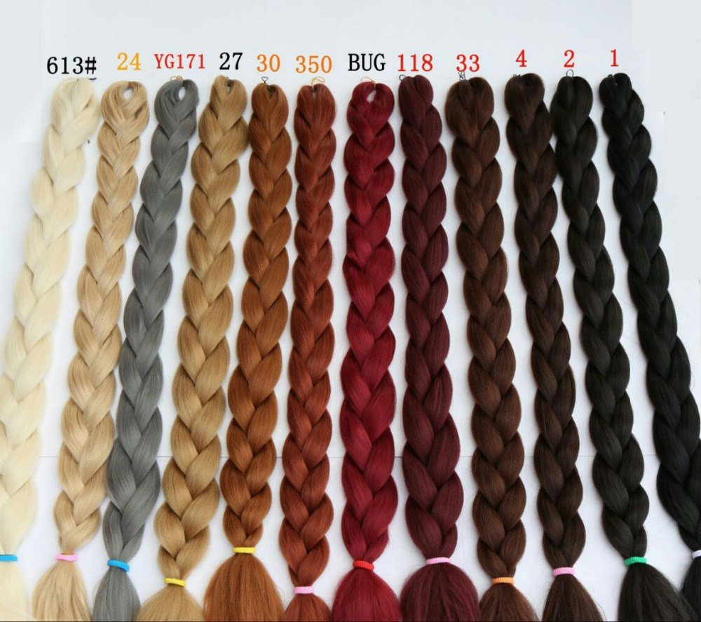 The Best 165G Synthetic Braiding Hair Extensions Twists 82 Purple Ombre Kanekalon Jumbo Braiding Hair Pictures