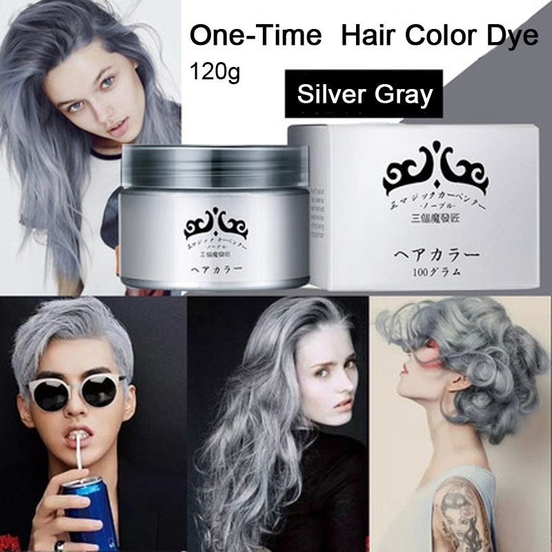 The Best Gray Hair Color Dye Cream One Time Temporary Hair Pictures