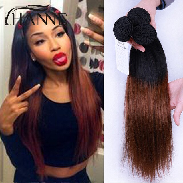 The Best Indian Straight Ombre Hair 1B 33 Dark Brown Ombre Human Pictures