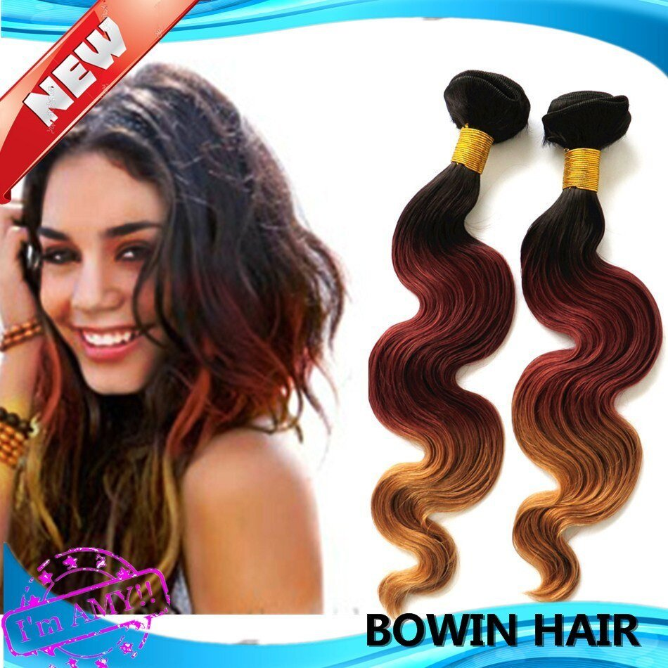 The Best Good Ombre Hair Extension 1B 33 27 3 Tone Color Pictures