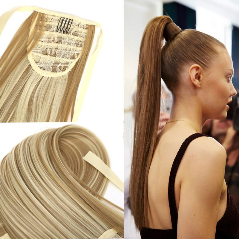 The Best Fake Hair Bandage Ponytail 24 Long Straight Pony Tail Pictures